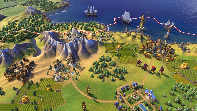 Скриншот к игре Sid Meier's Civilization VI: Platinum Edition [v1.0.12.9 + DLC's + Bonus] (2016) RePack от R.G. Механики