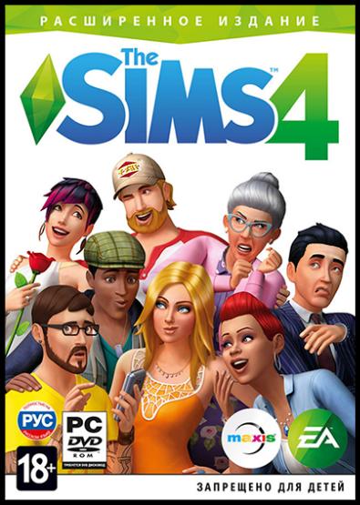 Обложка к игре The Sims 4: Deluxe Edition [v 1.71.86.1020 (x64) / 1.71.86.1020 (x32) + DLC] (2014) RePack от R.G. Механики